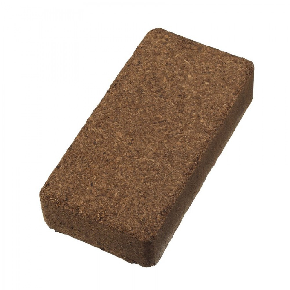 Coconut fiber hummus bricks
